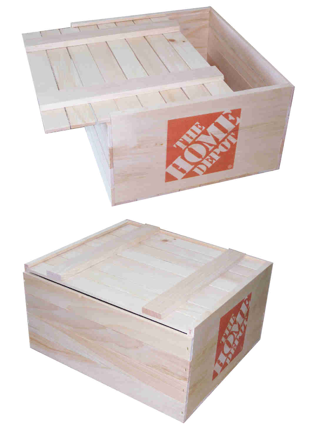 pine crates like this are an inexpensive alternitive to the old woven basket